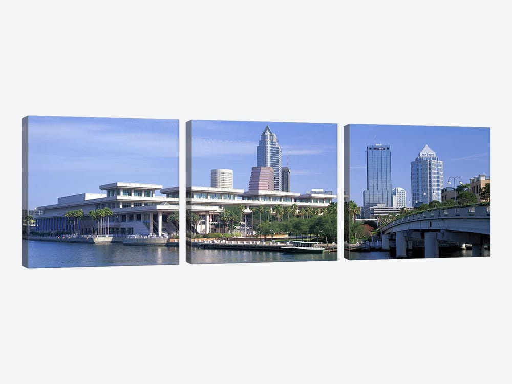 Tampa Convention Center, Skyline, Tampa, Florida, USA by Panoramic Images 3-piece Canvas Art Print