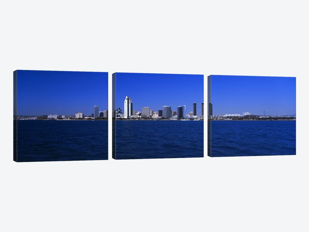 Skyscrapers in a city, San Diego, California, USA by Panoramic Images 3-piece Art Print