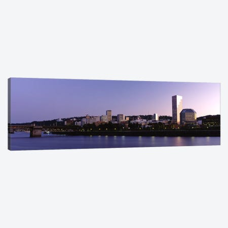 Buildings on the waterfront, Portland, Oregon, USA #2 Canvas Print #PIM3059} by Panoramic Images Canvas Print