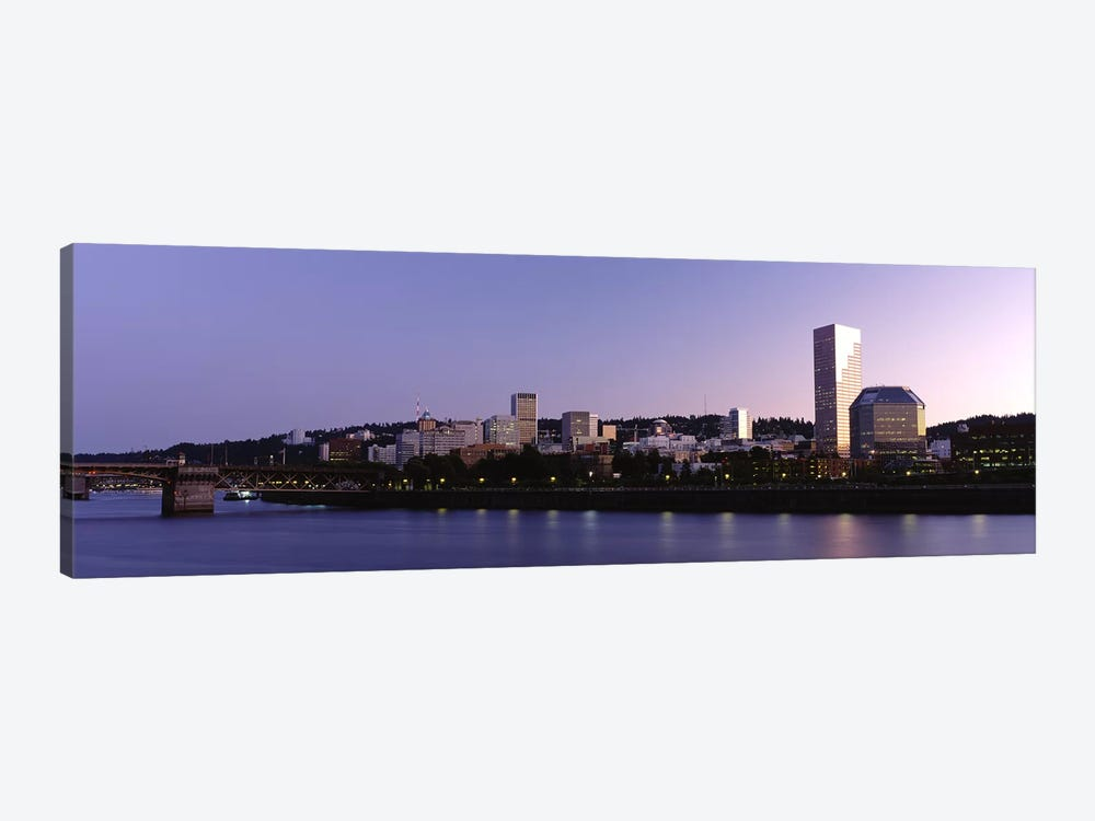 Buildings on the waterfront, Portland, Oregon, USA #2 by Panoramic Images 1-piece Canvas Artwork