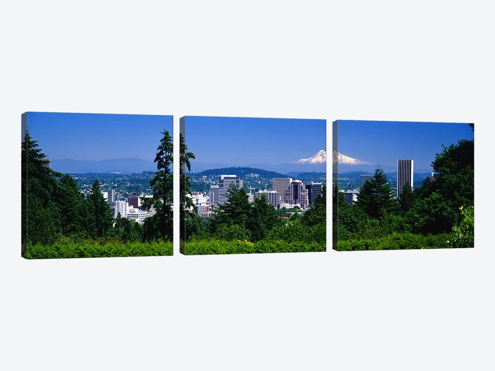 Mt Hood Portland Oregon USA by Panoramic Images 3-piece Canvas Wall Art