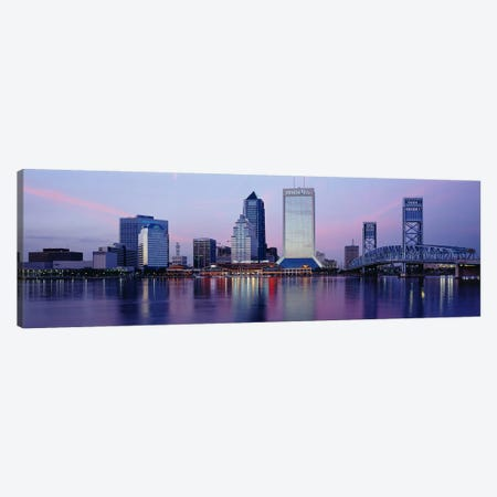 Skyscrapers On The Waterfront, St. John's River, Jacksonville, Florida, USA Canvas Print #PIM3061} by Panoramic Images Canvas Wall Art