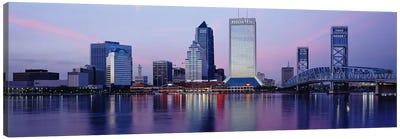 Skyscrapers On The Waterfront, St. John's River, Jacksonville, Florida, USA Canvas Print #PIM3061