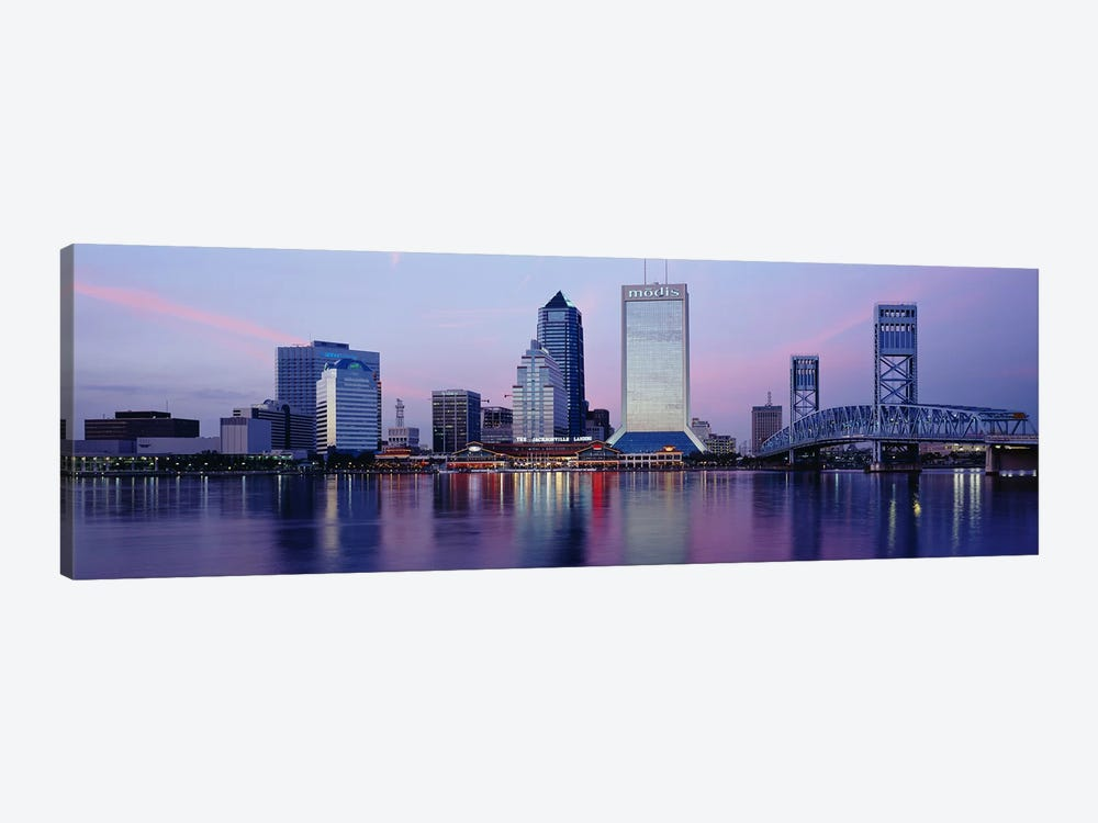 Skyscrapers On The Waterfront, St. John's River, Jacksonville, Florida, USA by Panoramic Images 1-piece Art Print