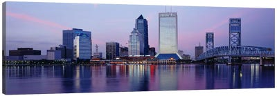 Skyscrapers On The Waterfront, St. John's River, Jacksonville, Florida, USA Canvas Art Print