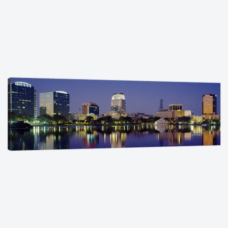 Reflection of buildings in water, Orlando, Florida, USA #2 Canvas Print #PIM3063} by Panoramic Images Canvas Artwork