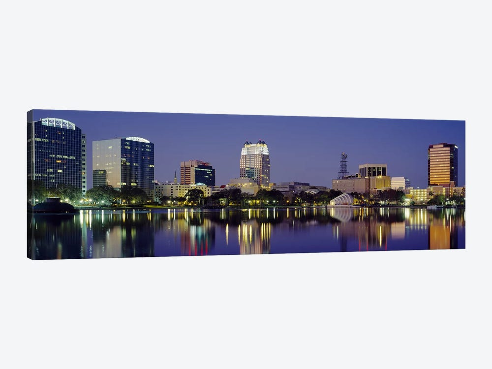 Reflection of buildings in water, Orlando, Florida, USA #2 by Panoramic Images 1-piece Canvas Print