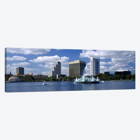 Buildings at the waterfront, Lake Eola, Orlando, Florida, USA Canvas Print #PIM3066} by Panoramic Images Canvas Art Print