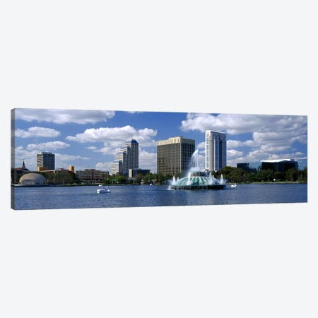 Buildings at the waterfront, Lake Eola, Orlando, Florida, USA Canvas Print #PIM3066} by Panoramic Images Canvas Art Print