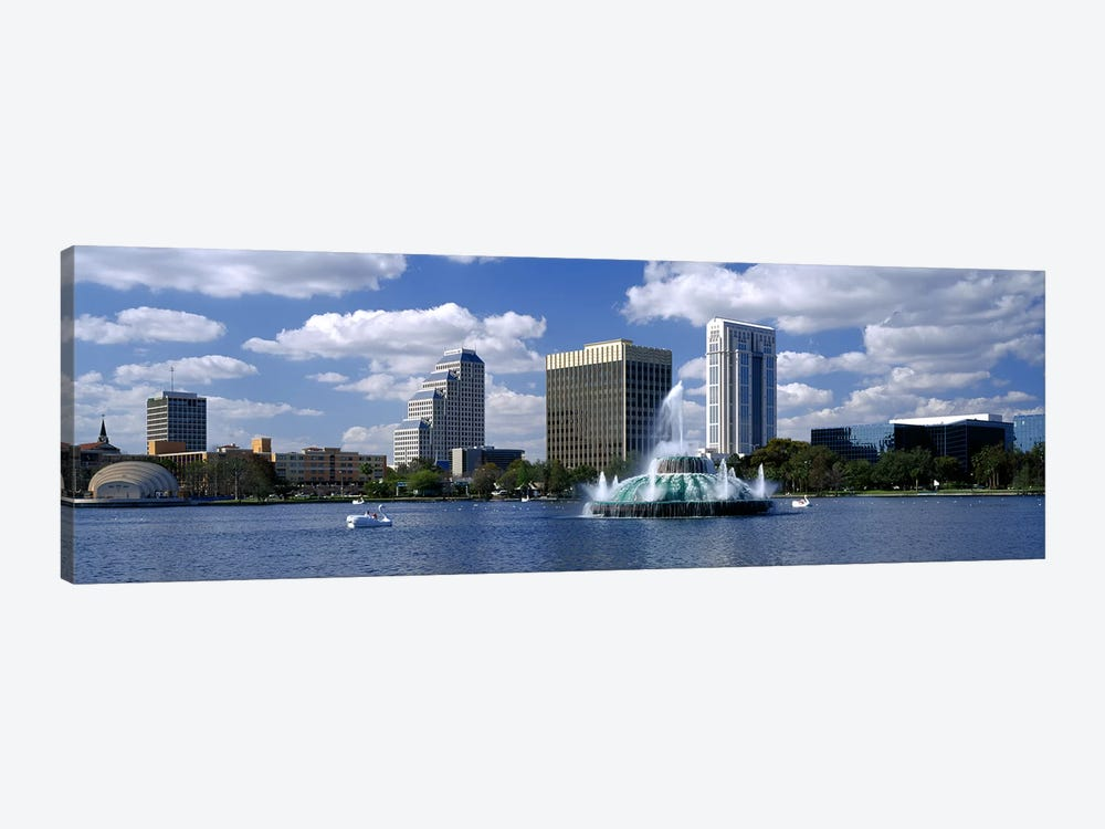 Buildings at the waterfront, Lake Eola, Orlando, Florida, USA by Panoramic Images 1-piece Canvas Artwork