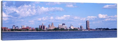 Buildings at the waterfront, Buffalo, Niagara River, Erie County, New York State, USA Canvas Print #PIM3075