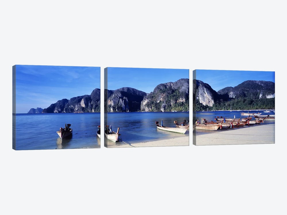 Phi Phi Islands Thailand by Panoramic Images 3-piece Canvas Artwork