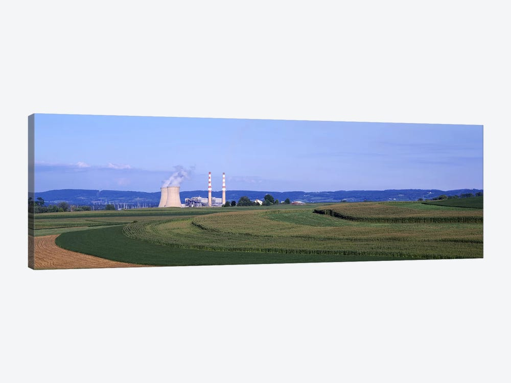 Power Plant Energy by Panoramic Images 1-piece Canvas Print