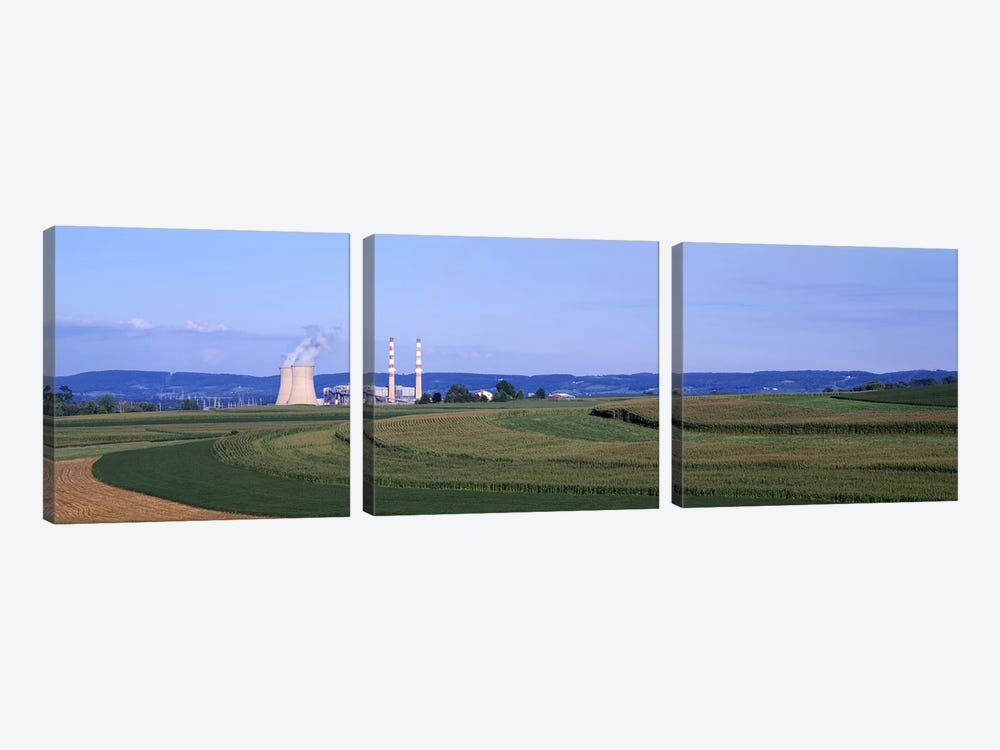Power Plant Energy by Panoramic Images 3-piece Art Print