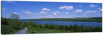 Road near a lake, Owasco Lake, Finger Lakes Region, New York State, USA Canvas Print #PIM3080