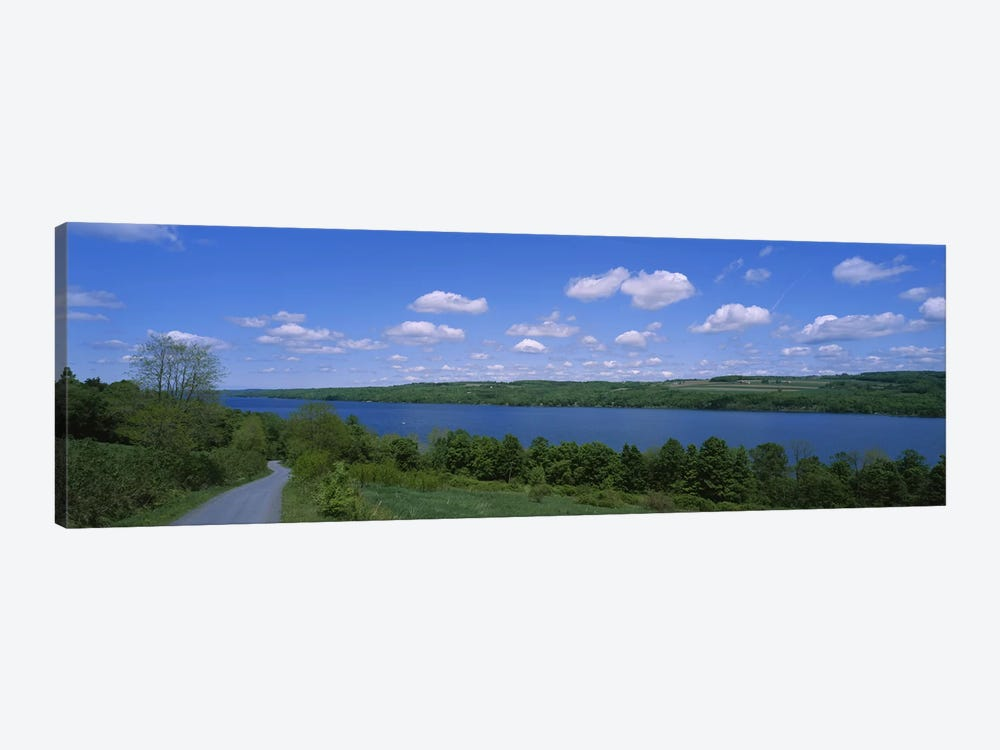Road near a lake, Owasco Lake, Finger Lakes Region, New York State, USA by Panoramic Images 1-piece Canvas Artwork