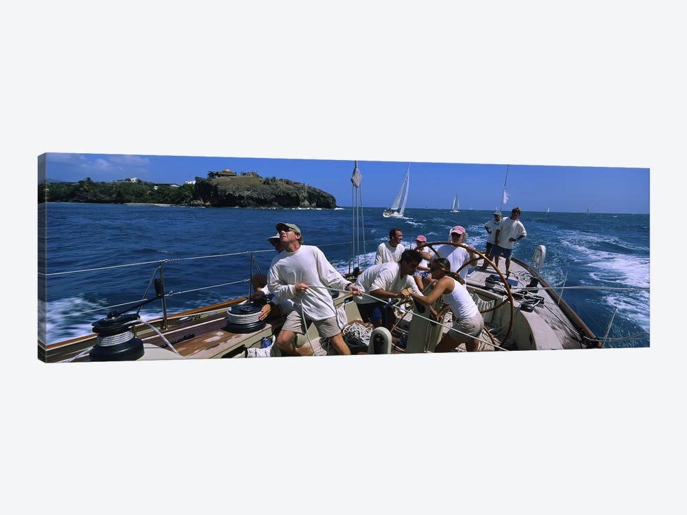 Group of people racing in a sailboatGrenada by Panoramic Images 1-piece Canvas Art