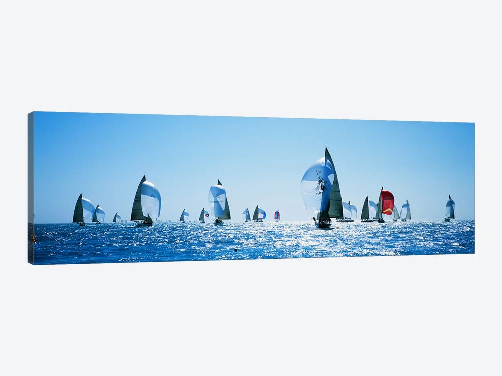 Sailboat Race, Key West, Florida, USA by Panoramic Images 1-piece Canvas Wall Art