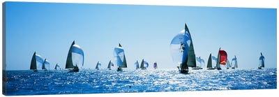 Sailboat Race, Key West, Florida, USA Canvas Art Print