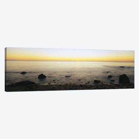 Rock-Laden Beach, Block Island, Rhode Island, USA Canvas Print #PIM3096} by Panoramic Images Canvas Wall Art