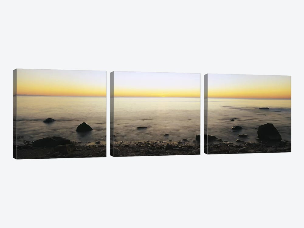 Rock-Laden Beach, Block Island, Rhode Island, USA by Panoramic Images 3-piece Art Print