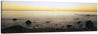 Rock-Laden Beach, Block Island, Rhode Island, USA Canvas Art Print