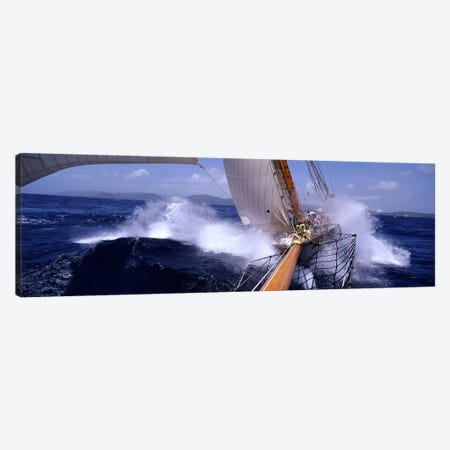 Yacht Race, Caribbean Canvas Print #PIM3098} by Panoramic Images Canvas Print