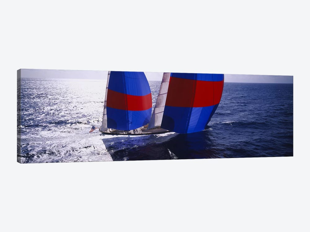 High angle view of a yacht in the seaCaribbean by Panoramic Images 1-piece Canvas Artwork