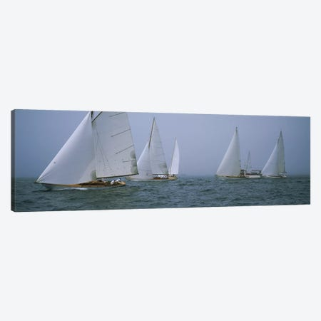 Sailboats at regattaNewport, Rhode Island, USA Canvas Print #PIM3104} by Panoramic Images Canvas Wall Art