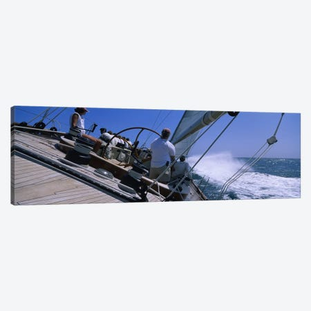 Group of people racing in a sailboatGrenada Canvas Print #PIM3105} by Panoramic Images Canvas Wall Art