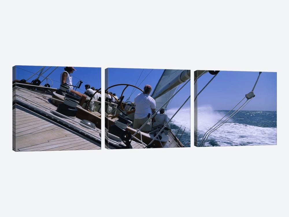 Group of people racing in a sailboatGrenada by Panoramic Images 3-piece Canvas Wall Art