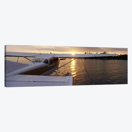 High angle view of a sea planeLake Spenard, Anchorage, Alaska, USA Canvas Print #PIM3107} by Panoramic Images Canvas Art