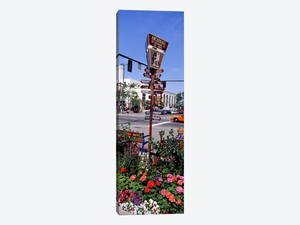 Street Name signs at the roadsideAnchorage, Alaska, USA by Panoramic Images 1-piece Canvas Print