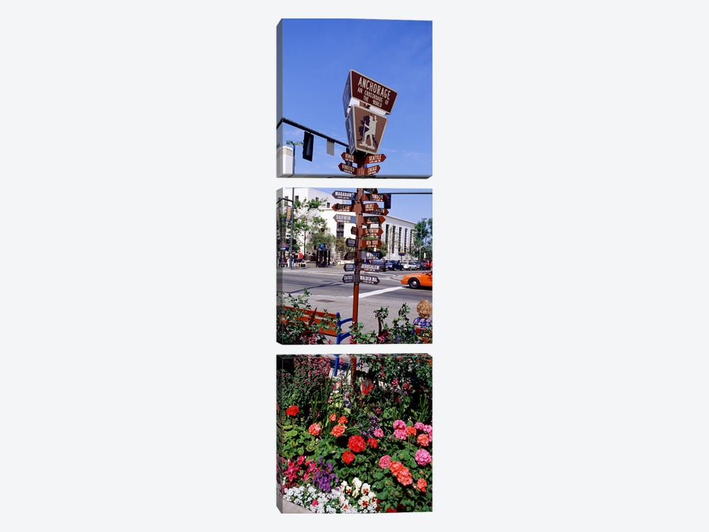Street Name signs at the roadsideAnchorage, Alaska, USA by Panoramic Images 3-piece Canvas Art Print