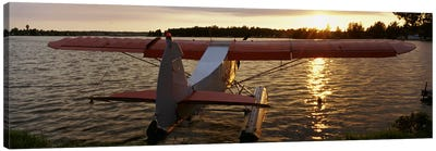 High angle view of a sea plane, Lake Spenard, Anchorage, Alaska, USA Canvas Art Print