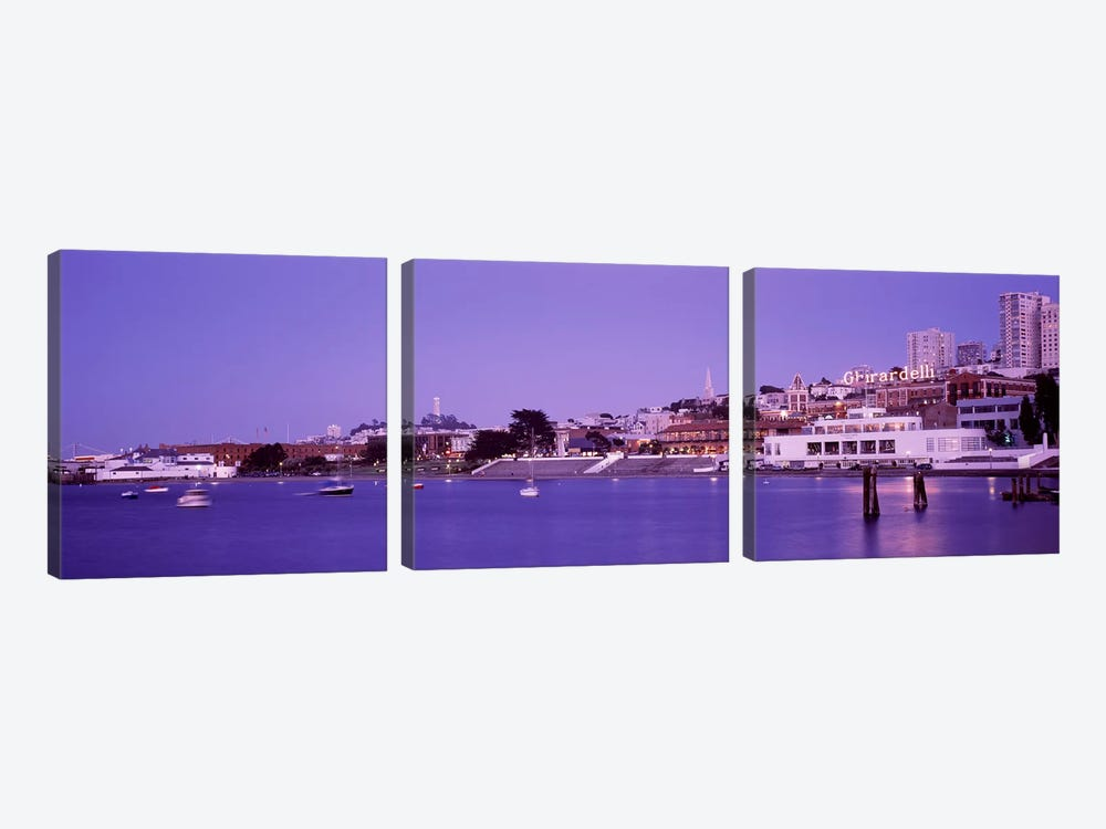 Ghirardelli Square, San Francisco, California, USA by Panoramic Images 3-piece Canvas Print