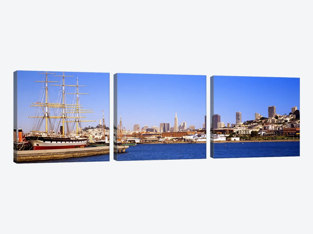 San Francisco CA by Panoramic Images 3-piece Canvas Artwork