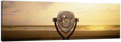 Mechanical Viewer, Pacific Ocean, California, USA Canvas Art Print