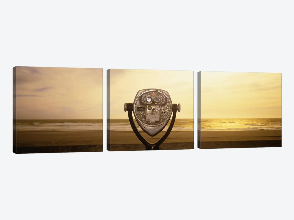 Mechanical Viewer, Pacific Ocean, California, USA by Panoramic Images 3-piece Canvas Art Print