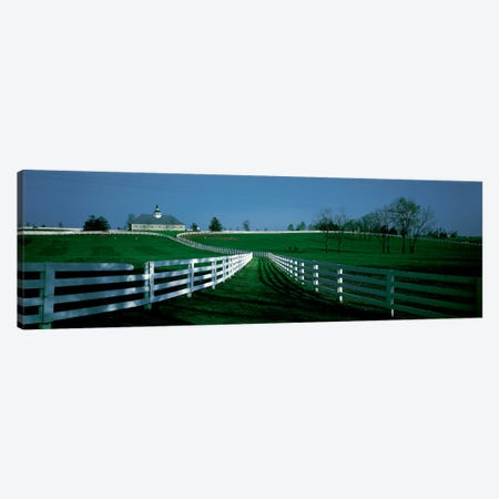 Outdoor Fields Of A Horse Farm, Lexington, Kentucky, USA Canvas Print #PIM311} by Panoramic Images Canvas Wall Art