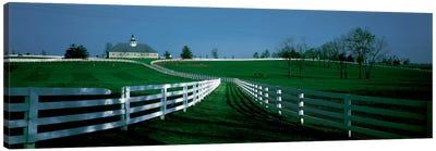 Outdoor Fields Of A Horse Farm, Lexington, Kentucky, USA Canvas Art Print