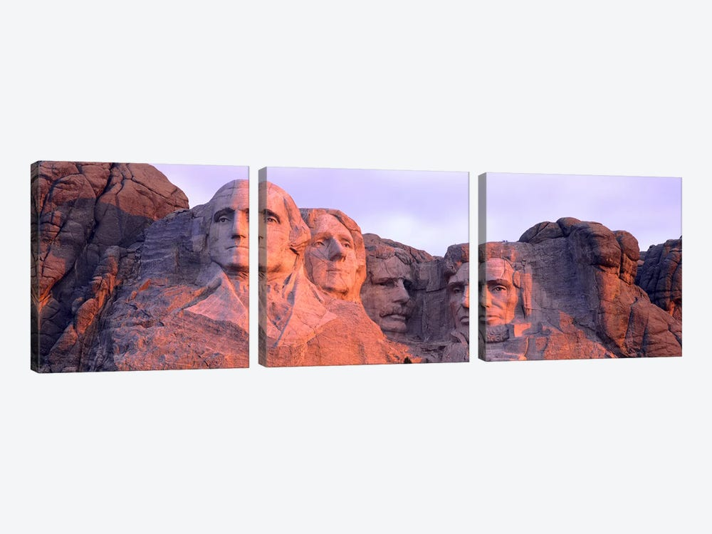 Mount Rushmore National Memorial I, Pennington County, South Dakota, USA by Panoramic Images 3-piece Canvas Art