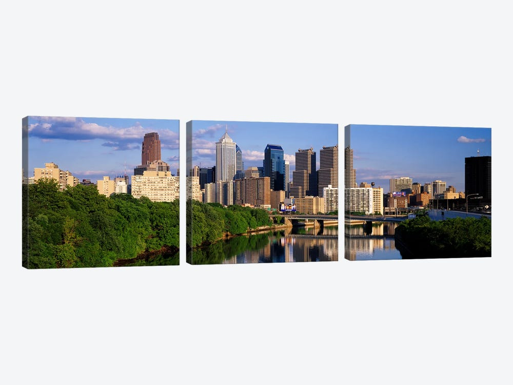 Philadelphia PA by Panoramic Images 3-piece Canvas Art
