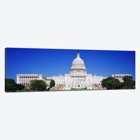 Facade of a government building, Capitol Building, Capitol Hill, Washington DC, USA Canvas Print #PIM3126} by Panoramic Images Canvas Art