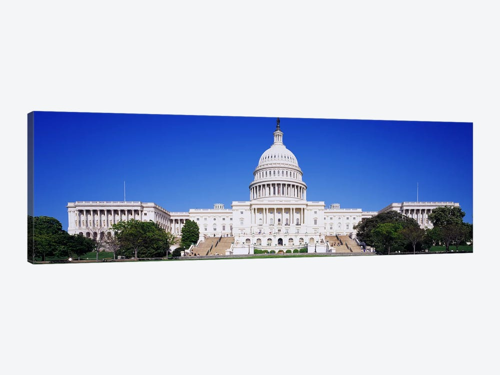 Facade of a government building, Capitol Building, Capitol Hill, Washington DC, USA 1-piece Art Print
