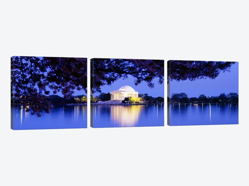 Jefferson MemorialWashington DC, District of Columbia, USA by Panoramic Images 3-piece Canvas Artwork