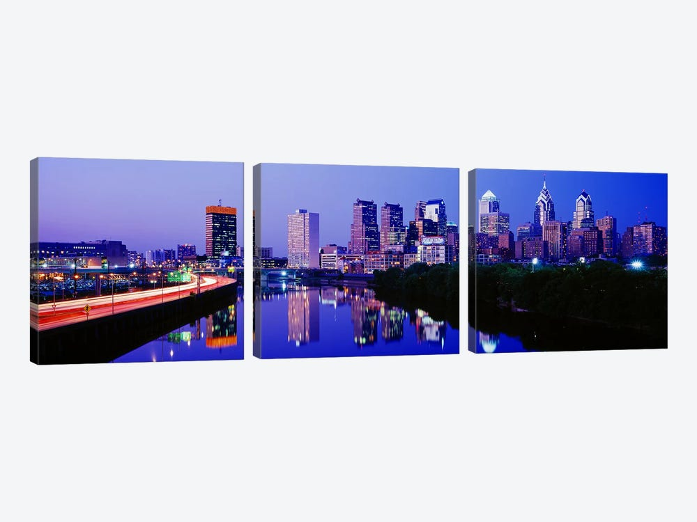 Philadelphia, Pennsylvania, USA by Panoramic Images 3-piece Canvas Print