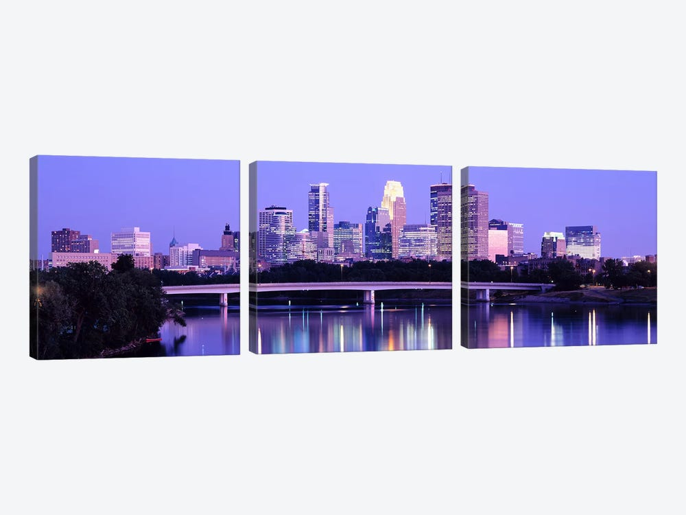 Minneapolis MN by Panoramic Images 3-piece Canvas Wall Art