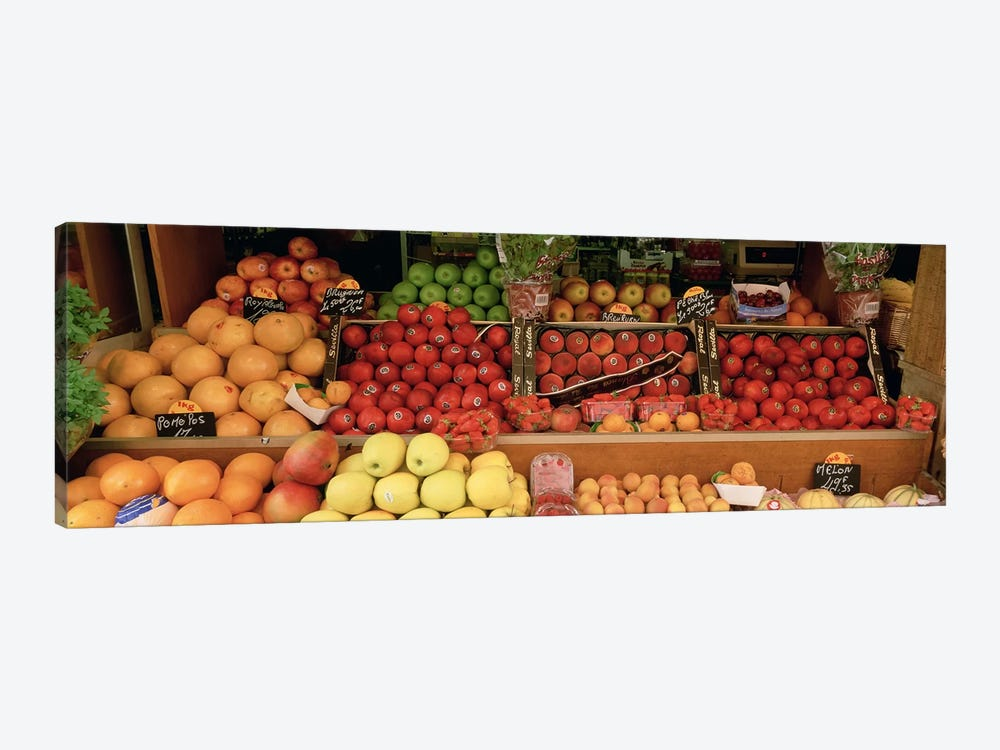 Close-Up Of Fruits In A Street Market, Rue de Levis, Paris, France by Panoramic Images 1-piece Art Print