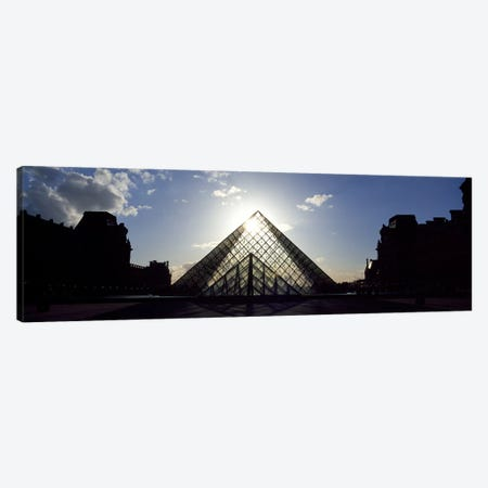 Louvre Paris France Canvas Print #PIM3138} by Panoramic Images Canvas Wall Art